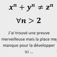 humour maths Grand théorème de Fermat
