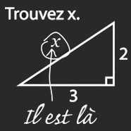 humour maths trouver x